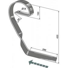 Dent niveleuse, droit - Köckerling Vario - 904342