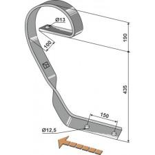 Dent niveleuse, modèle droit - AG004089