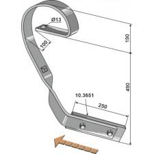 Dent niveleuse, modèle droit - AG004087