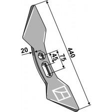 Soc double-coeur 45-75 - Amazone / BBG - 103552115
