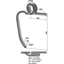 Dent de cultivateur en spirale - AG003425