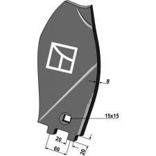 Déflecteur latéral - modèle droit