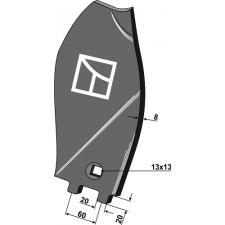 Déflecteur latéral - modèle droit - Becker - 200062674