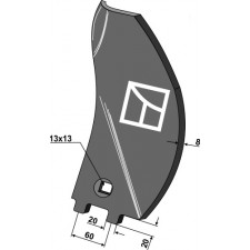 Déflecteur latéral - modèle gauche - Becker - 200062675