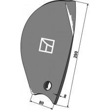 Déflecteur latéral - gauche - Pöttinger - 9791.50.039.0