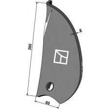 Déflecteur latéral - droite - Pöttinger - 9791.50.038.0