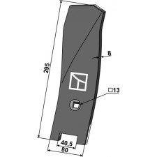 Déflecteur latéral - gauche - Komet - 10-005.125