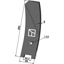 Déflecteur latéral - droite - Komet - 10-005.126