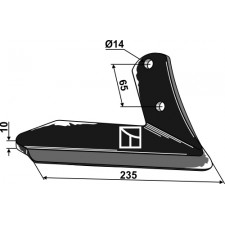 Soc à ailette - droite - Kuhn - H2212500