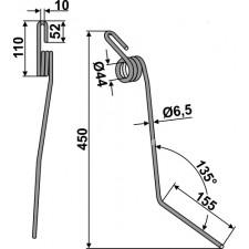 Griffe de semoir - Rabe - 6611.47.00