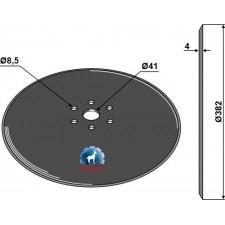 Disque de semoir Ø382x4 - Salford - CT501540