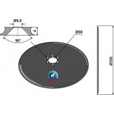 Disque de semoir Ø330x4 - Kleine - KL848901