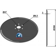 Disque de semoir Ø350x3 - Kuhn - FLA2605B