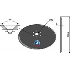Disque de semoir Ø350x3 - Kuhn - N02502AO