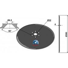 Disque de semoir Ø380x4 - Kuhn - N00875AO