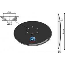 Disque de semoir Ø330x2