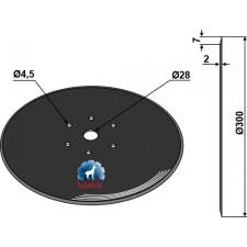 Disque de semoir Ø300x2 - Fiona - 4.137.003