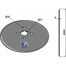 Disque de semoir Ø460x5 - John Deere - N214190 / N283804