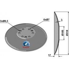 Disque de semoir Ø310x3 - Accord - AC495390