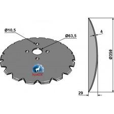 Disque de semoir Ø350x4 - Rabe - 9008.55.10Z