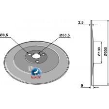 Disque de semoir Ø300x2,5 - Amazone - 951498 / 3386400