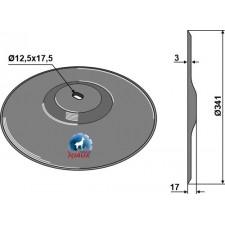 Disque de semoir Ø341x3 - John Deere - N164594 - N283805