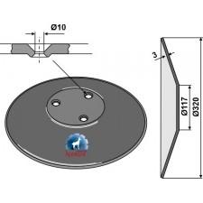 Disque de semoir Ø320x3 - Amazone - 962292