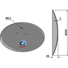 Disque de semoir Ø350x3 - Accord - AC496709