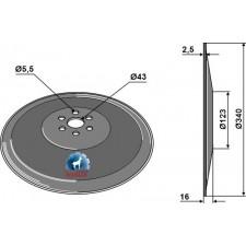 Disque de semoir Ø340x2,5 - Lemken - 3490006