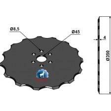 Disque de semoir Ø350x4 - Accord - AC821839