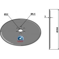 Disque de semoir Ø350x3 - Hatzenbichler - 930100S