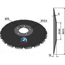 Disque de semoir Ø410x5 - Kverneland - AC353950