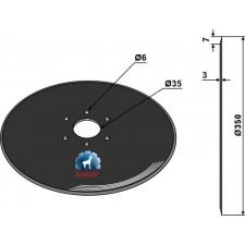 Disque de semoir Ø350x3 - Lemken - 3490010