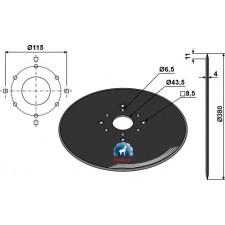 Disque de semoir Ø380x4 - Great Plains - 9007122