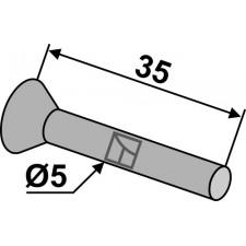 Rivet à tête fraisée ou conique pour socs de semoir en metal - AG008409