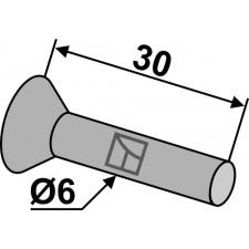 Rivet à tête fraisée ou conique pour socs de semoir en metal - AG008408
