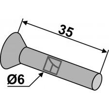 Rivet à tête fraisée ou conique pour socs de semoir en metal - AG008407