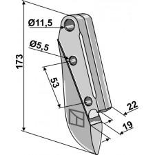 Soc de semoir en métal - Lemken - 3378100