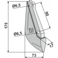 Soc de semoir en métal - Nodet - H 195