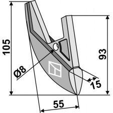 Soc de semoir en métal - Nordsten - 25085