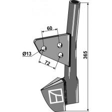 Tube de semoir - arrière - Rabe - 9008.61.01