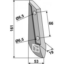 Soc de semoir en métal - Saxonia - 3200-25-003