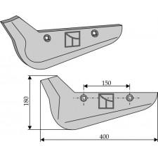 Soc pour arracheuses de betteraves, modèle gauche - Holmer - 1145010021 - 1145011131