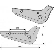 Soc pour arracheuses de betteraves, modèle droit - Holmer - 1145010020 - 1145011132