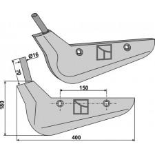 Soc pour arracheuses de betteraves, modèle gauche - Holmer - 1145.019.883