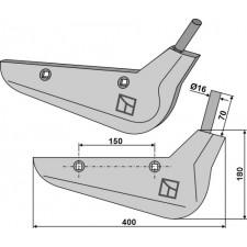 Soc pour arracheuses de betteraves, modèle droit - Holmer - 1145.019.882