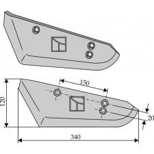 Socs pour arracheuses de betteraves, modèle gauche - Stoll - 1513530