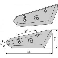 Socs pour arracheuses de betteraves, modèle droit - Stoll - 1513520