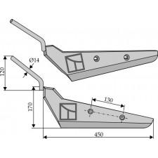 Socs pour arracheuses de betteraves, modèle gauche - Moreau - AS475SG