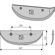 Soc pour arracheuses de betteraves, modèle droit - AG005082